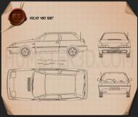 Volvo 480 1986 Blueprint