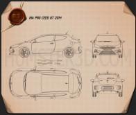 Kia Pro Ceed GT 2014 Blueprint