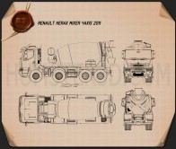 Renault Kerax Mixer 2011 Blueprint