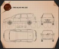 Ford Galaxy (Mk3) 2012 Blueprint