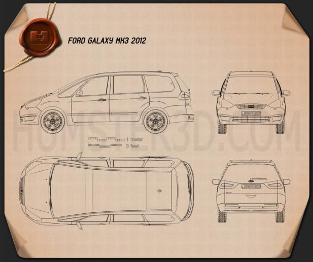 Ford Galaxy (Mk3) 2012 Blueprint