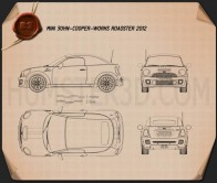 Mini John Cooper Works roadster 2013 Blueprint