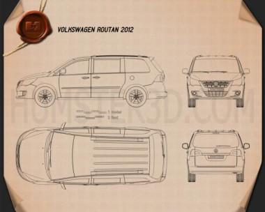 Volkswagen Routan 2012 Blueprint
