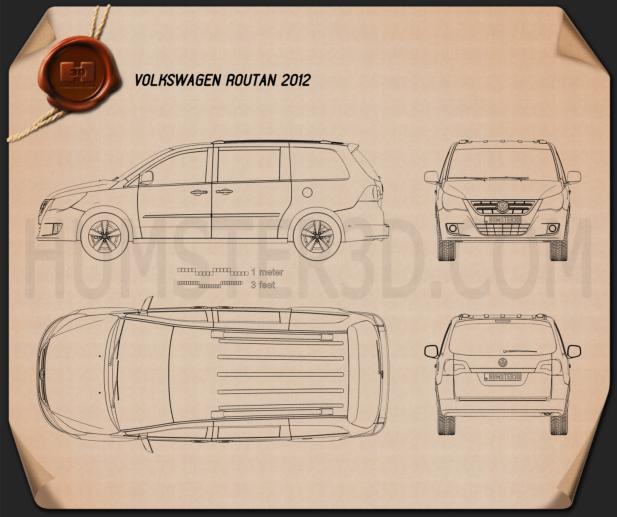 Volkswagen Routan 2012 Blueprint
