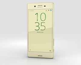 Sony Xperia X Performance Lime Gold 3D model