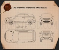 Land Rover Range Rover Evoque Convertible 2013 Blueprint