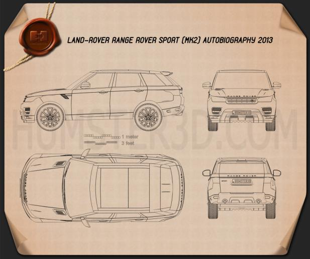 Land Rover Range Rover Sport Autobiography 2013 Blueprint