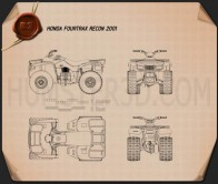Honda FourTrax Recon 2001 Blueprint