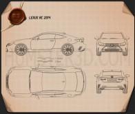 Lexus RC 2014 Blueprint