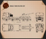 Renault Kerax Military Crane 2011 Blueprint