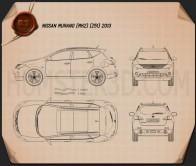Nissan Murano (Z51) 2013 Blueprint