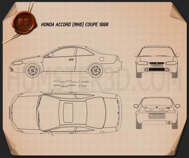 Honda Accord coupe 1998 Blueprint