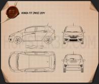 Honda Fit (Jazz) 2014 Blueprint