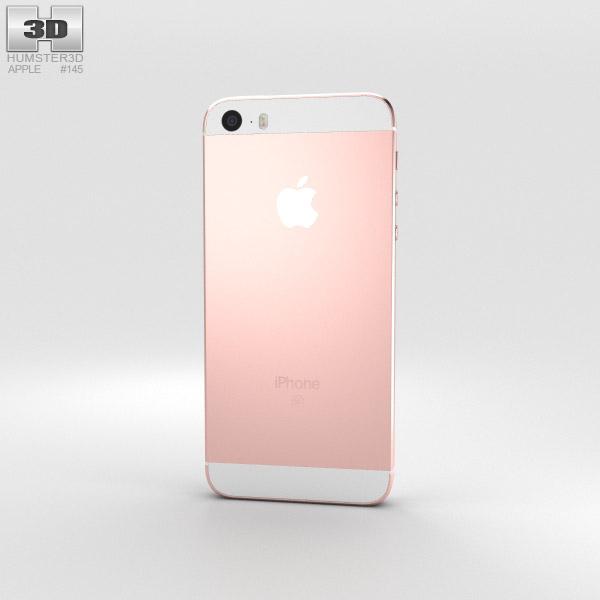 apple iphone se rose gold 3d model hum3d. Black Bedroom Furniture Sets. Home Design Ideas