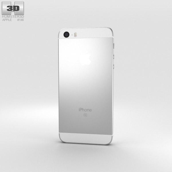apple iphone se silver 3d model hum3d. Black Bedroom Furniture Sets. Home Design Ideas