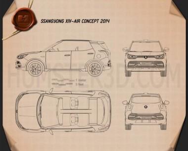 SsangYong XIV Air 2014 Blueprint