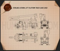 Sterling Acterra Lift Platform Truck 2002 Blueprint