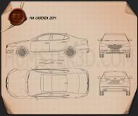Kia Cadenza (K7) 2014 Blueprint