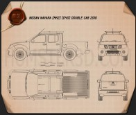 Nissan Navara (D40) Double Cab 2010 Blueprint