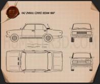 VAZ Lada 2105 1997 Blueprint