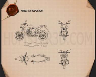 Honda CB300R 2014 Blueprint