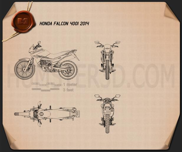 Honda NX 400i Falcon 2014 Blueprint