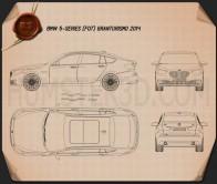 BMW 5 Series (F07) Gran Turismo 2014 Blueprint