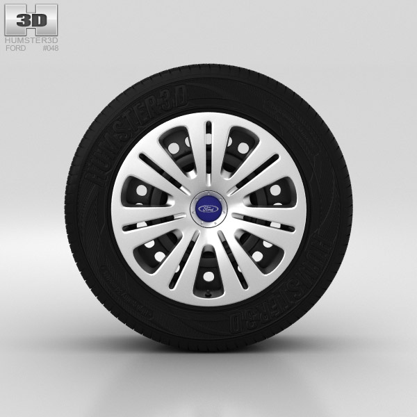Ford Galaxy Wheel 16 inch 001 3d model