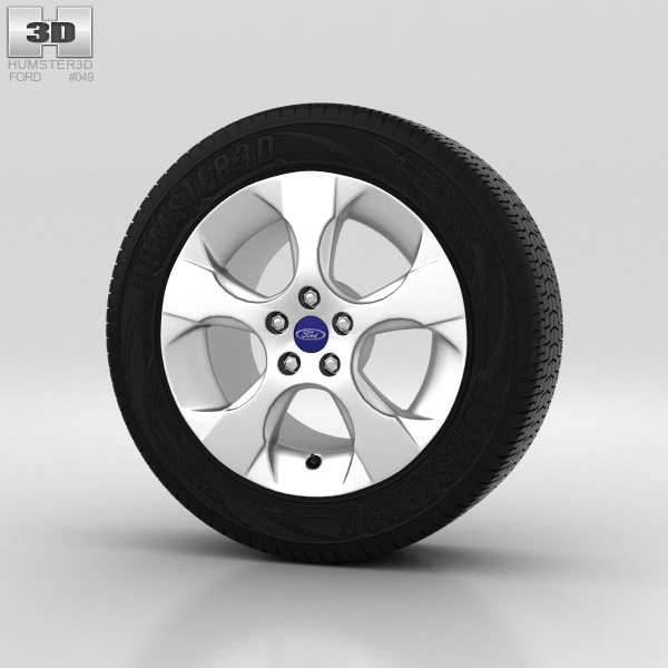 Ford Galaxy Wheel 16 inch 002 3d model