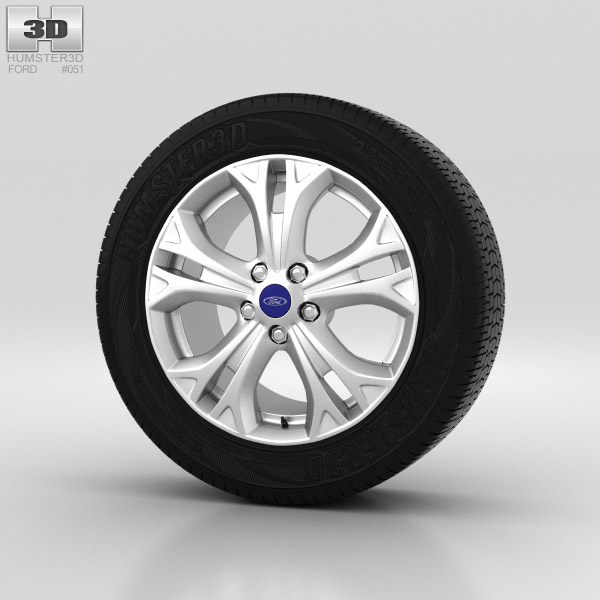 Ford Galaxy Wheel 17 inch 001 3d model