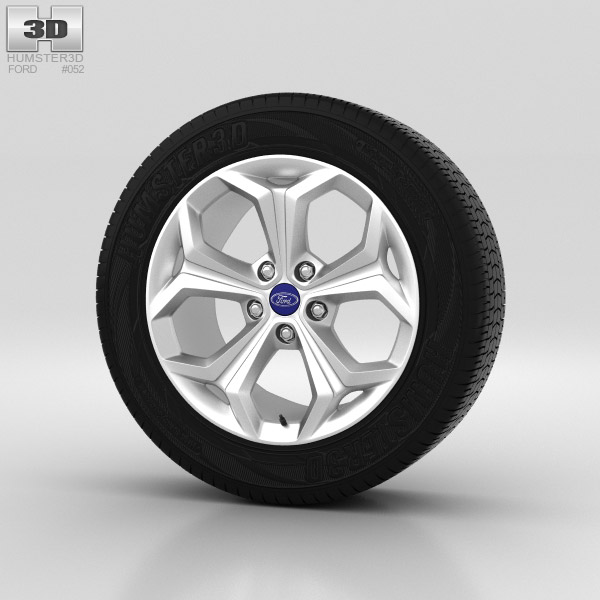 Ford Galaxy Wheel 18 inch 001 3d model