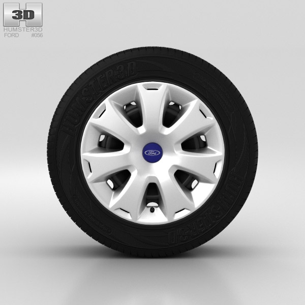 Ford Grand C Max Wheel 16 inch 001 3d model