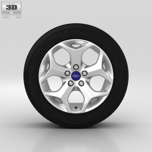 Ford Grand C Max Wheel 16 inch 002 3d model