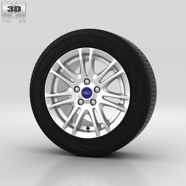 Ford Grand C Max Wheel 16 inch 003 3d model