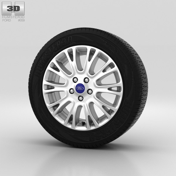 Ford Grand C Max Wheel 16 inch 004 3d model