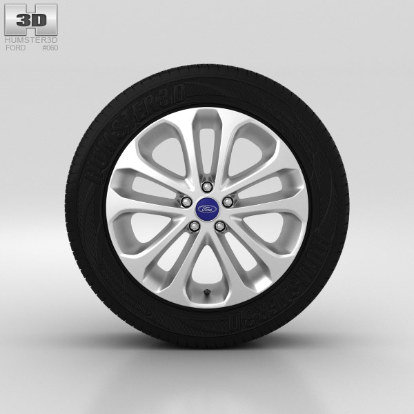 Ford Grand C Max Wheel 17 inch 001 3d model