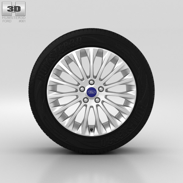 Ford Grand C Max Wheel 17 inch 002 3d model