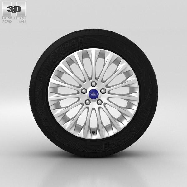Ford Grand C Max Wheel 17 inch 002 3d model