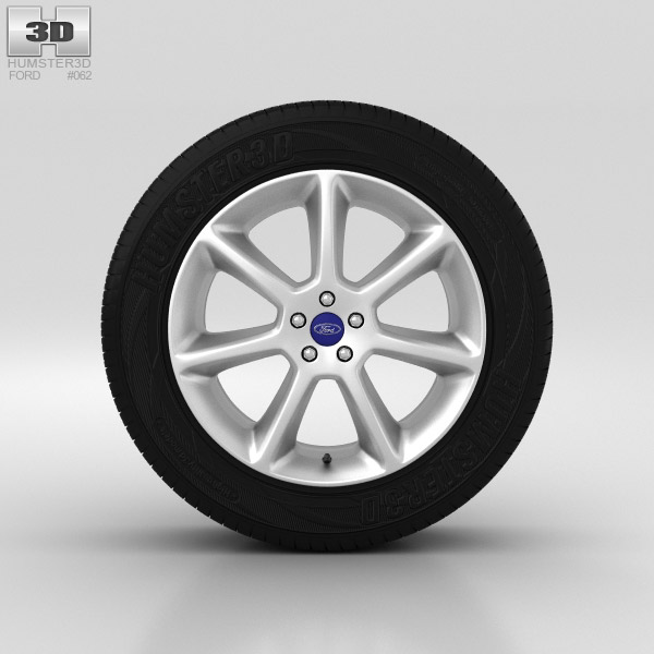 Ford Grand C Max Wheel 18 inch 001 3d model