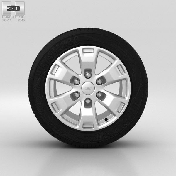 Ford Ranger Wheel 16 inch 002 3d model