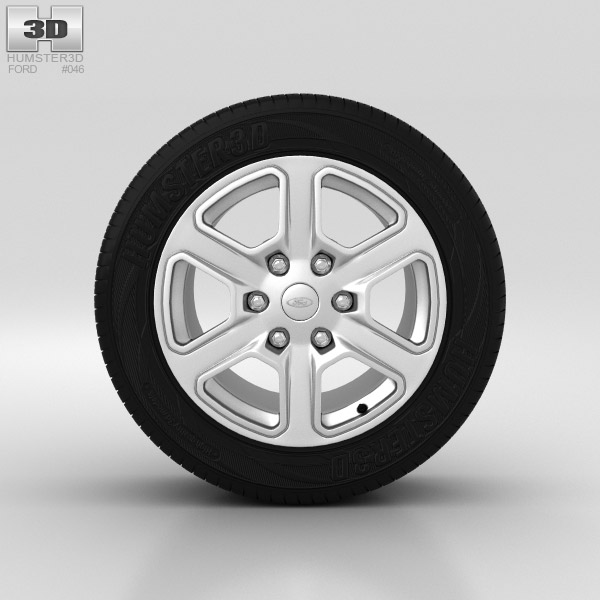Ford Ranger Wheel 17 inch 001 3d model