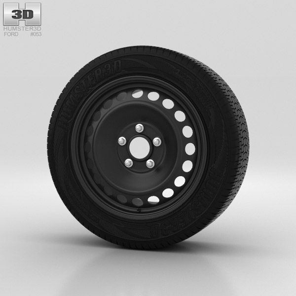 Ford S Max Wheel 16 inch 001 3d model
