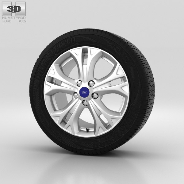 Ford S Max Wheel 17 inch 002 3d model