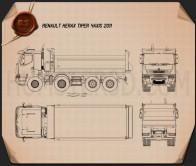 Renault Kerax Tiper 4axis 2011 Blueprint