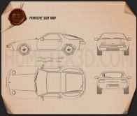 Porsche 928 1981 Blueprint