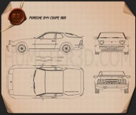 Porsche 944 coupe 1991 Blueprint