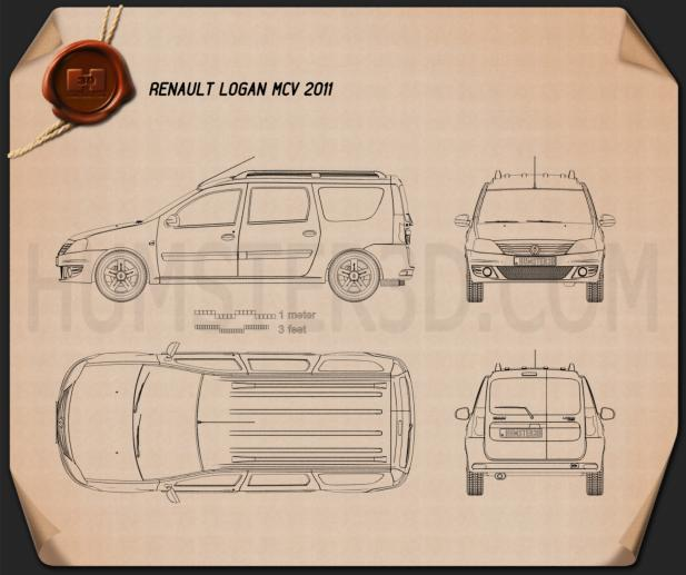 Renault Logan MCV 2011 Blueprint
