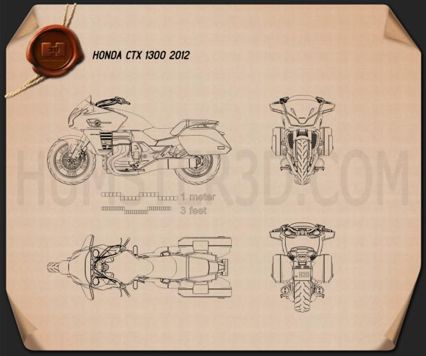 Honda CTX1300 2012 Blueprint