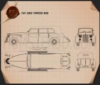 Fiat 2800 Torpedo 1939 Blueprint