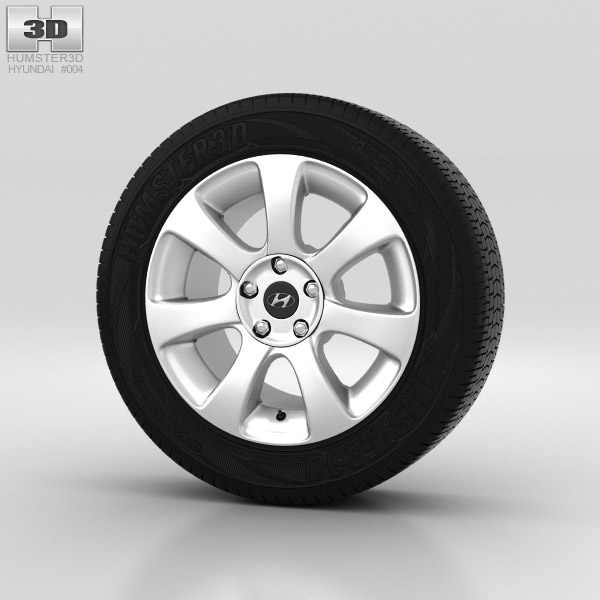 Hyundai Elantra Wheel 17 inch 001 3d model
